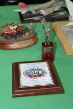 Figure with award
